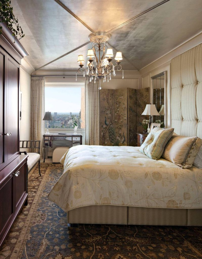 american traditional bedroom with a view of new york central park