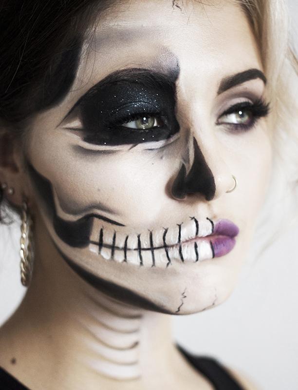 Edgy Half Face Skull