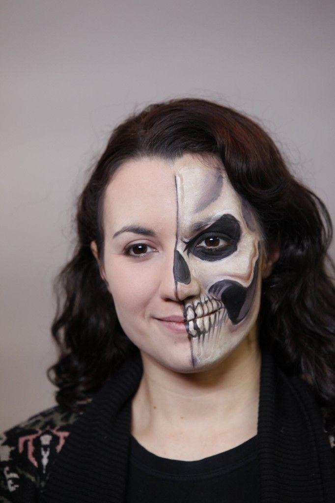 Great Half Face Halloween Makeup