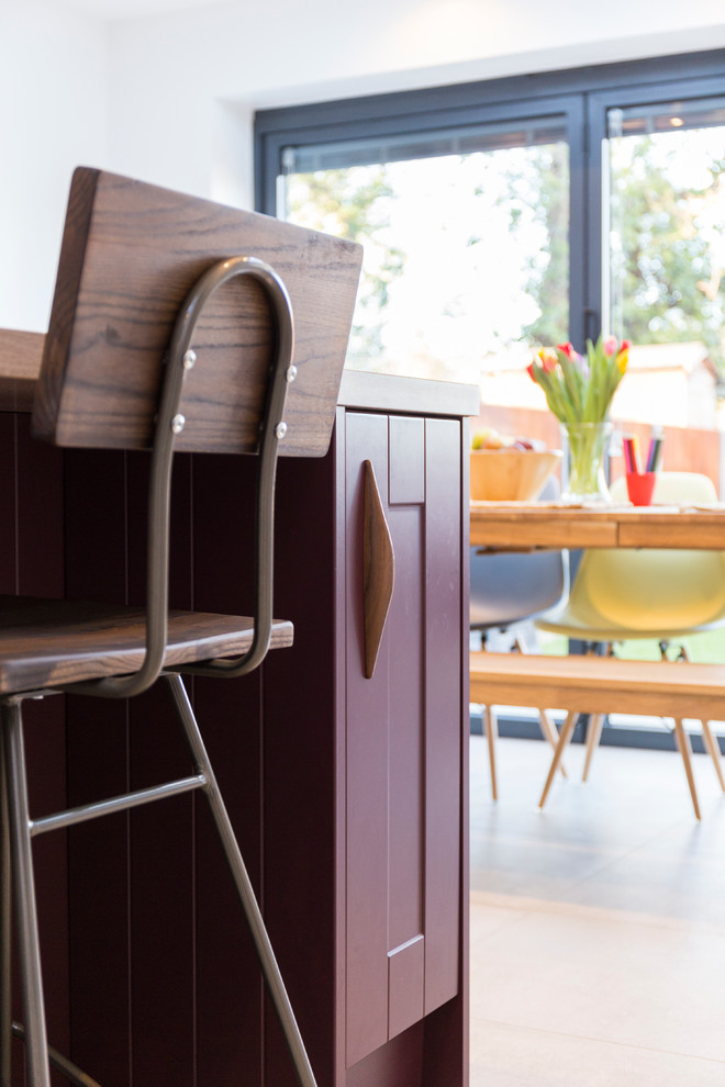 wooden chair dining in kitchen