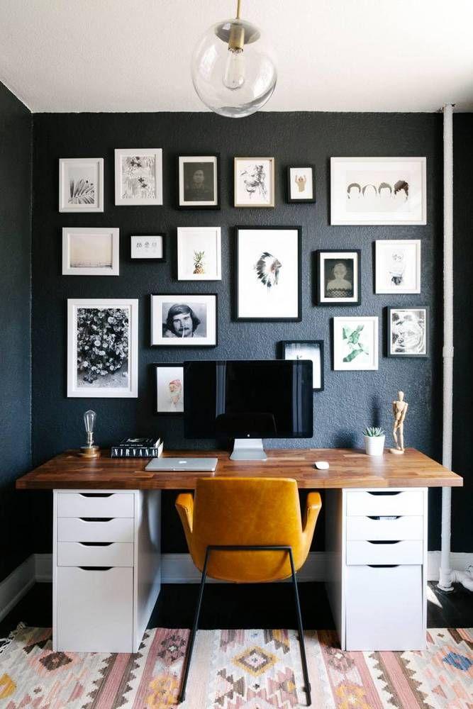 Photo Frames Office Wall Design