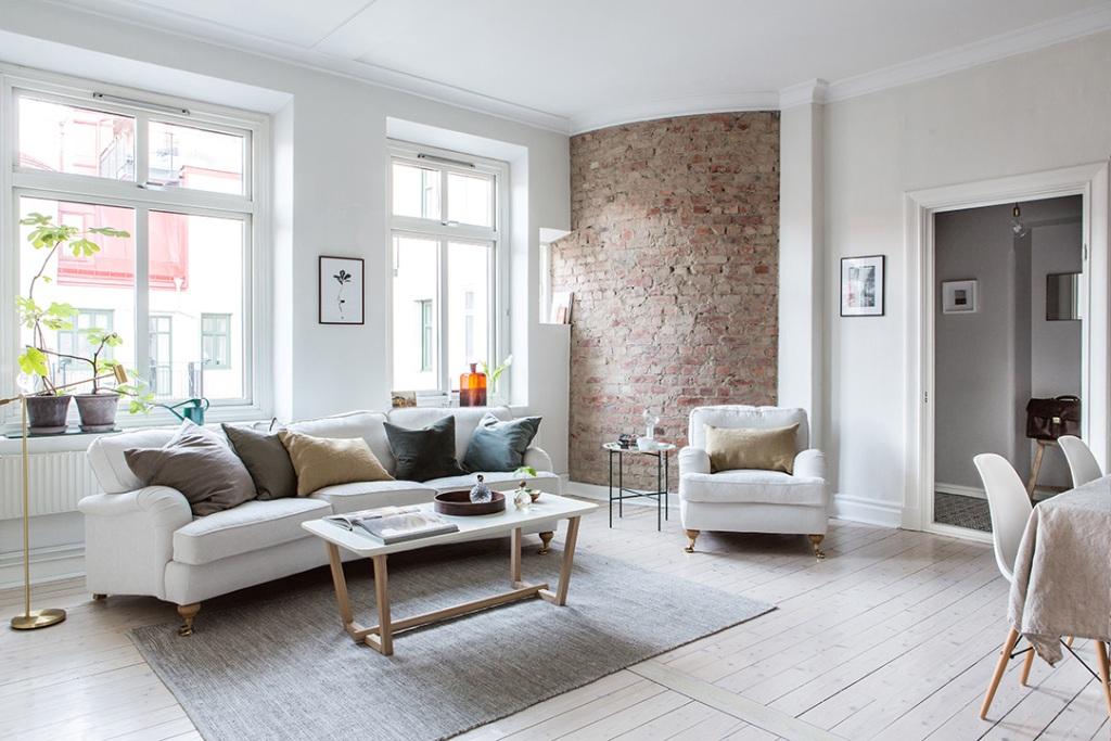 living room brick wall ideas