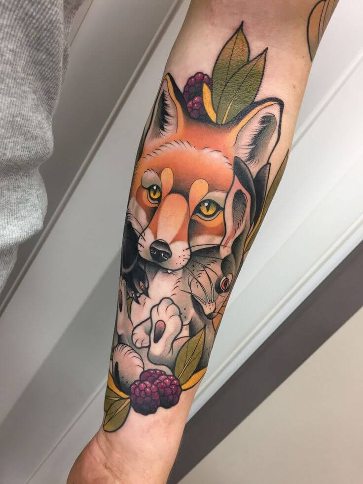 Fox Tattoo Neo-Traditional