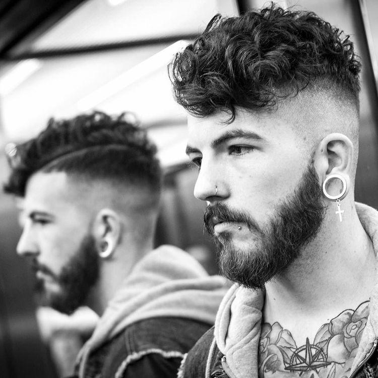 High Skin Fade Haircut For Curly Hair