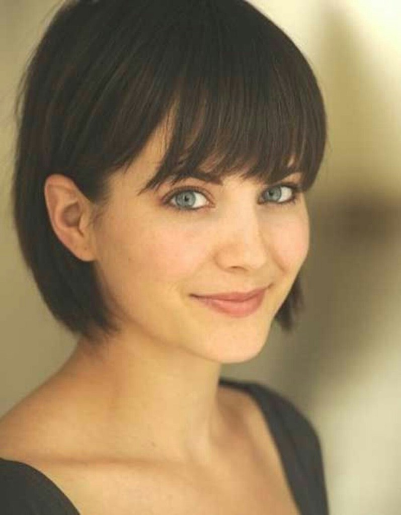 Brunette Bob Hairstyles With Bangs