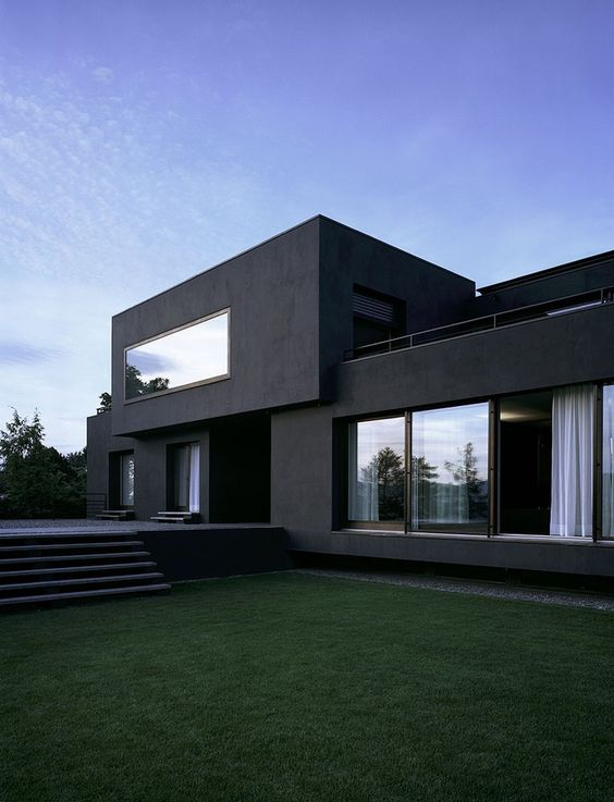 Beautiful Dark Exterior with Big Window
