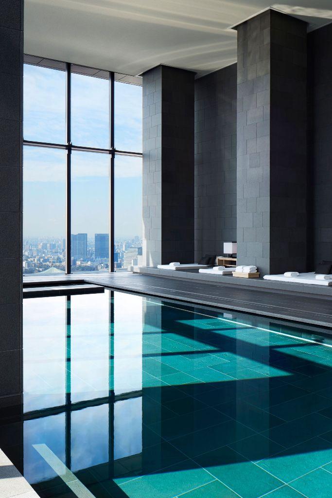 Indoor Pool With Big City Views