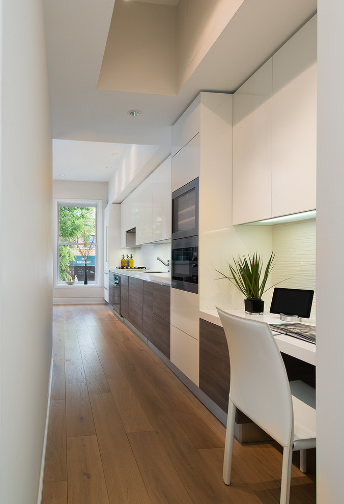 Kitchen and Home Office Together