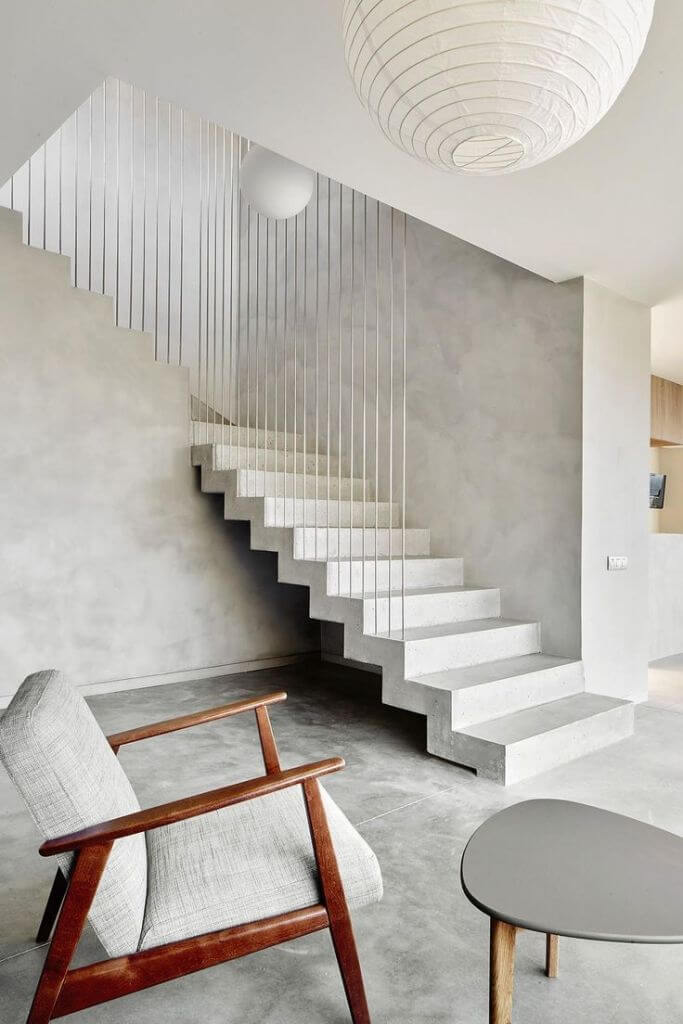 Concrete Stair Design Models For Minimalist Home