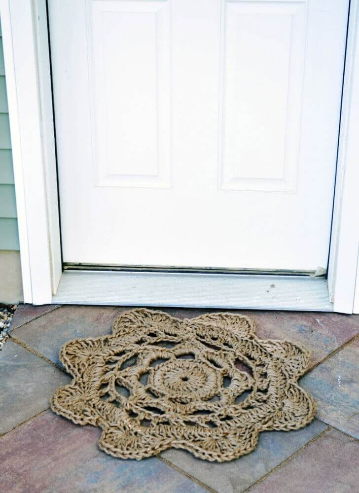 Flower Shaped Rope Mat