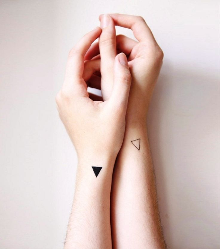 Triangle Couple Tattoos