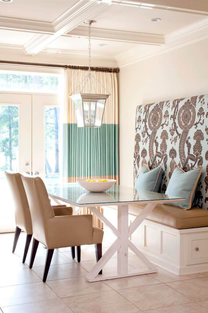 Transitional Dining Room Sunlight Curtain