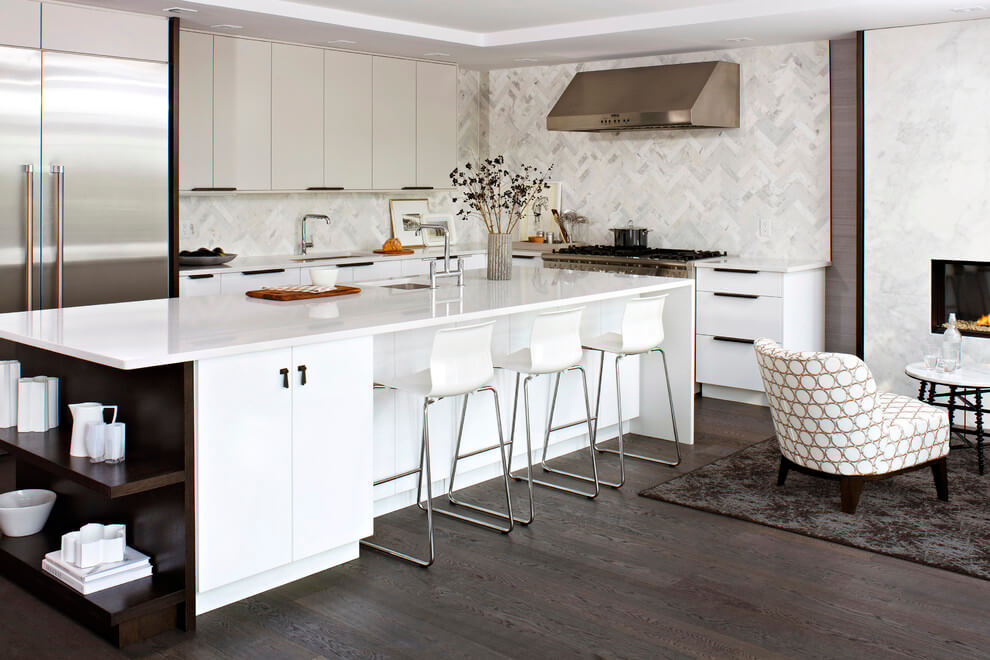 kitchen island with storage and shelving