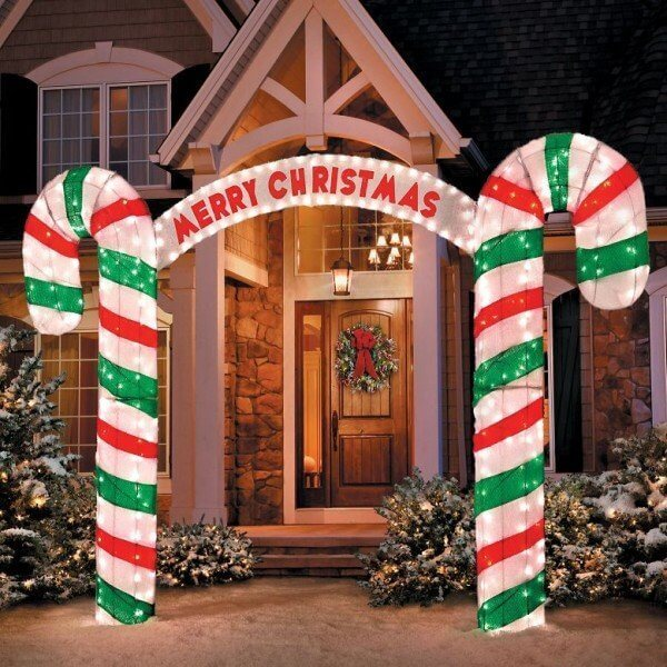 Front Porch Candy Cane Decoration