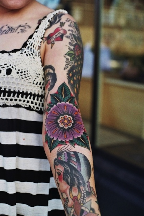 Colorful Arm Tattoos