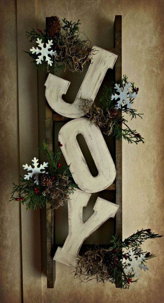 Christmas Sign Rustic Mantle Decor