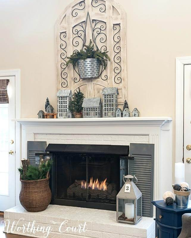 Industrial Christmas Mantel Decor