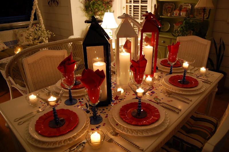 Stunning Christmas Lantern Centerpiece