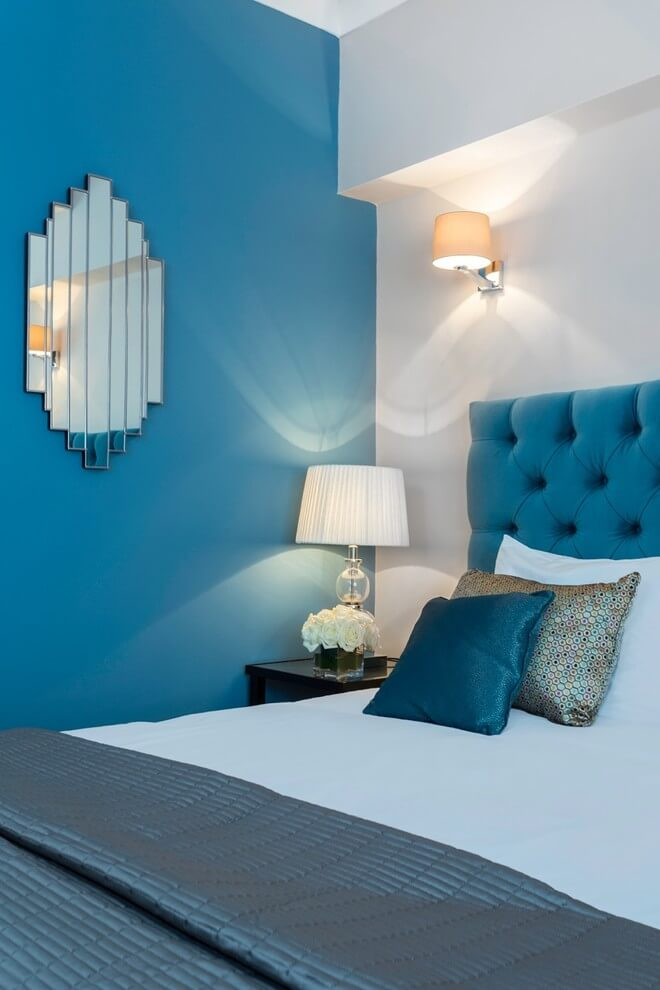 Blue Tones Modern Bedroom Design