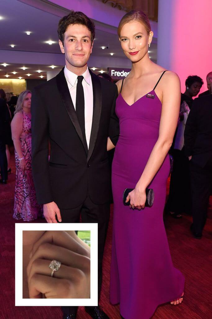 Karlie Kloss and Josh Kushner Suave Look Engagement Ring