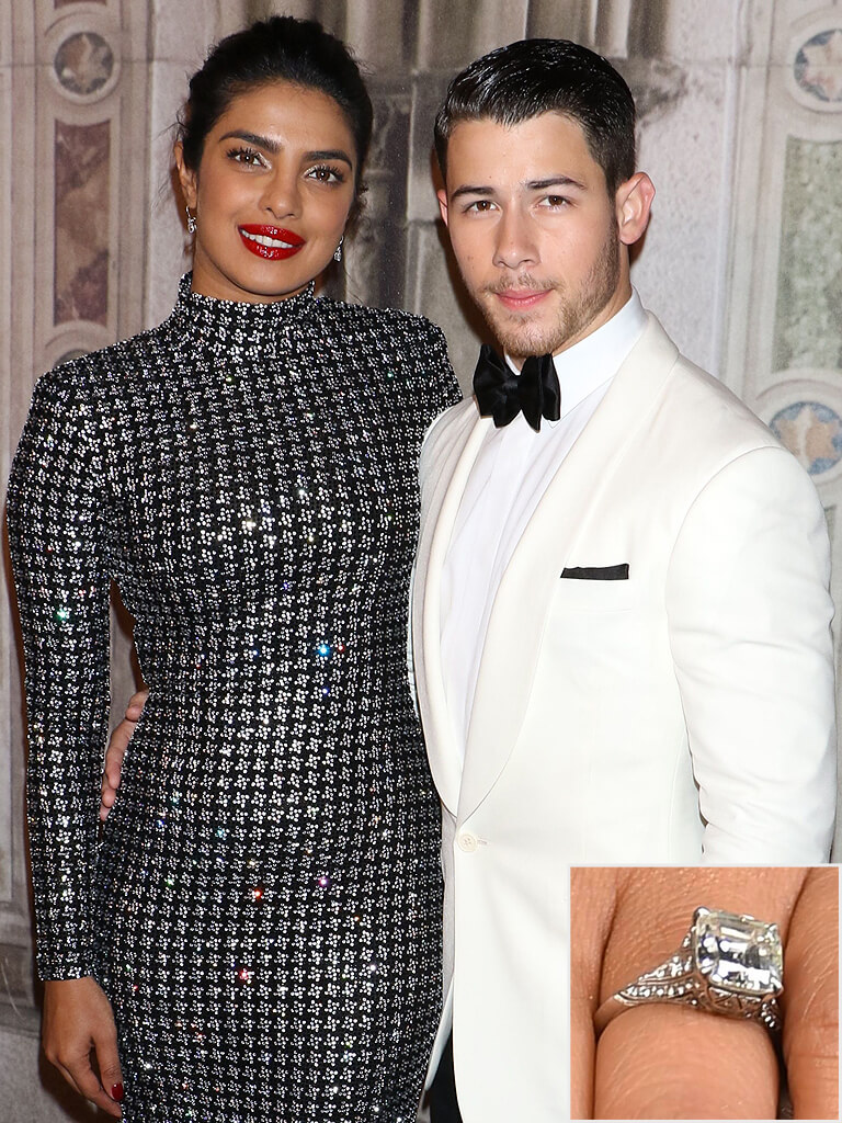 Priyanka Chopra and Nick Jonas Classic Engagement Ring