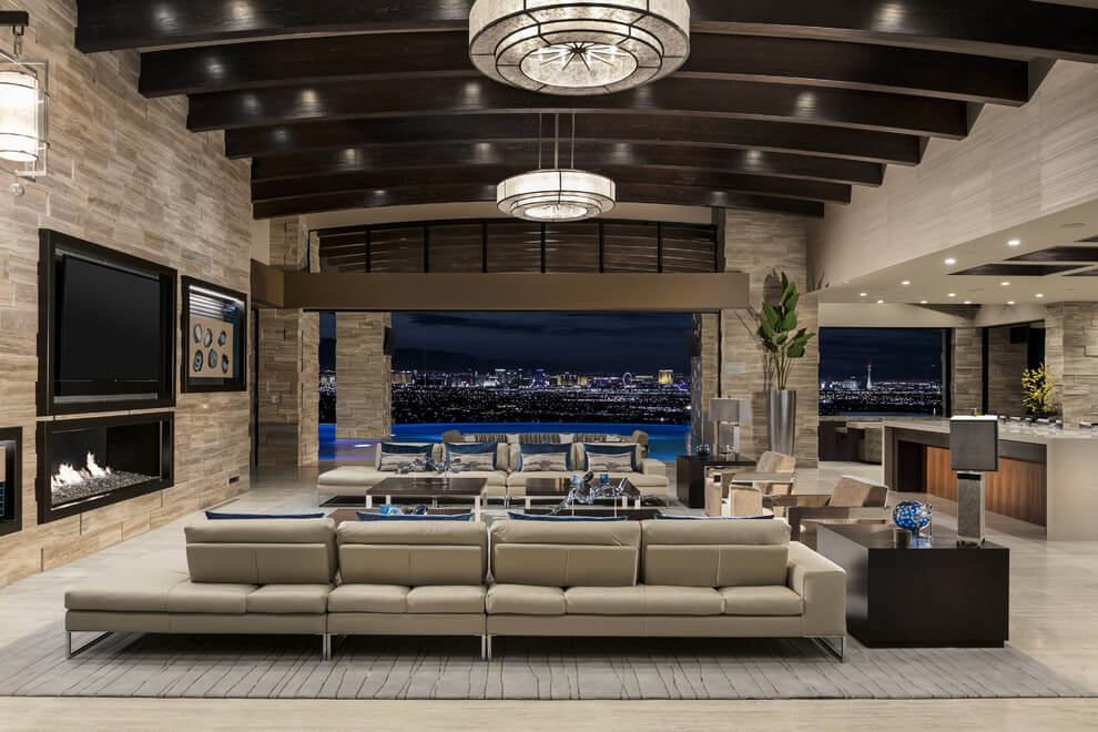 Modern Touch Southwestern Living Room