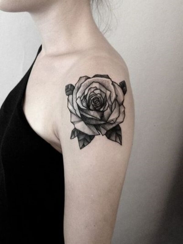 Simple Rose on the Upper Arm