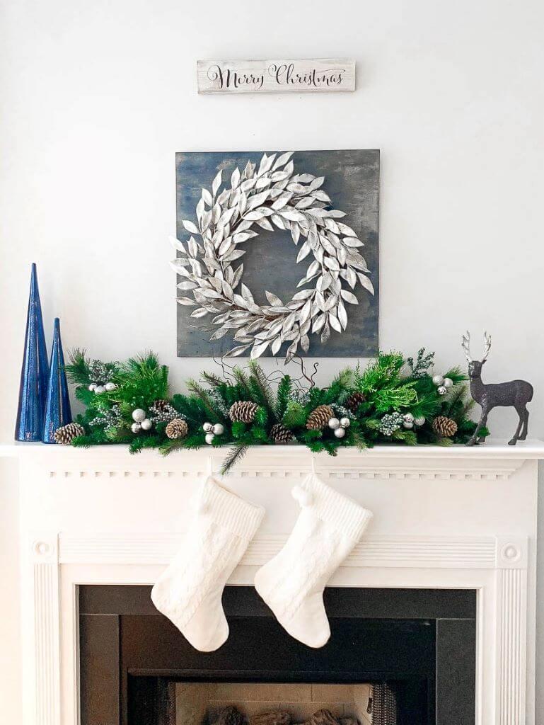 Modern Style Christmas Mantel Decoration