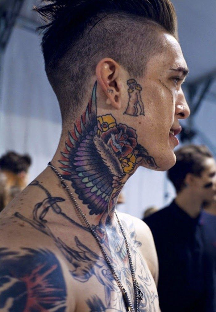 Creative Designs of Neck Tattoos