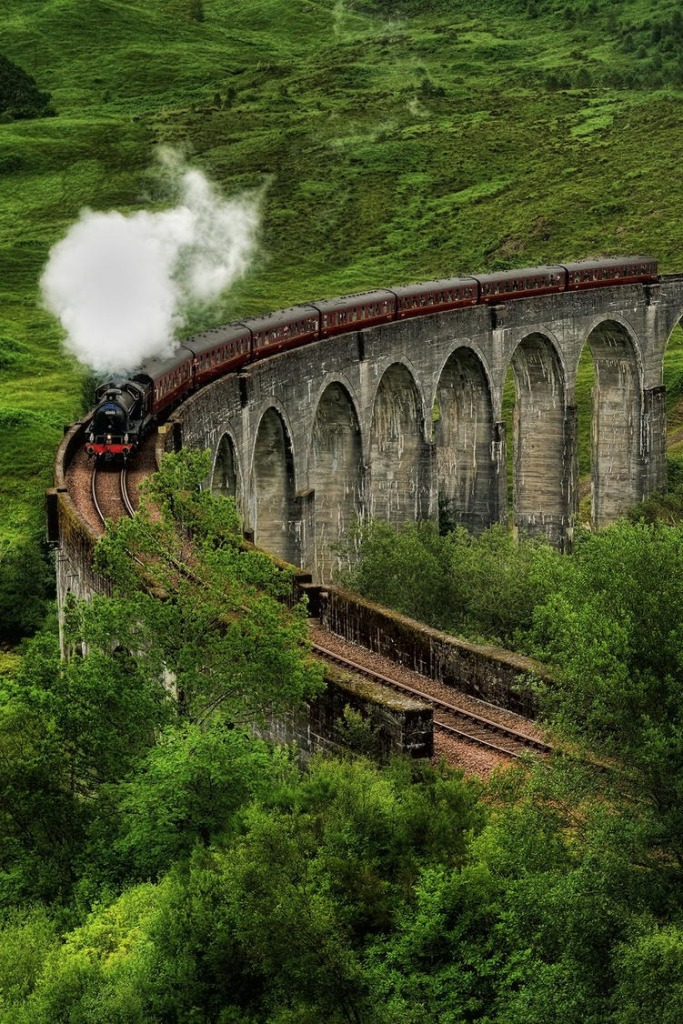 Glenfinnan Viaduct Scotland Beautiful train route