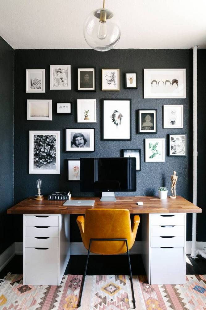 Photo Frames Office Wall Design