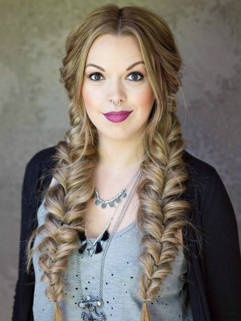Fancy Fishtail Double Braid For Long Hair