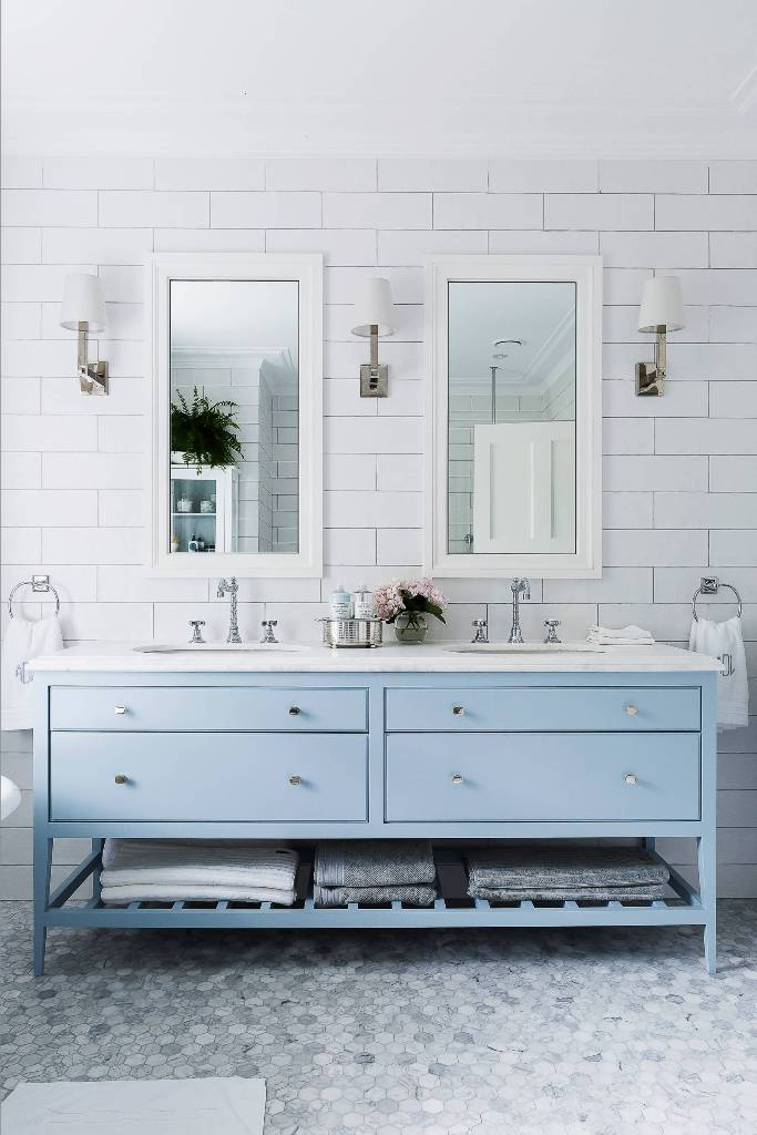 Sky Blue Bathroom Vanity
