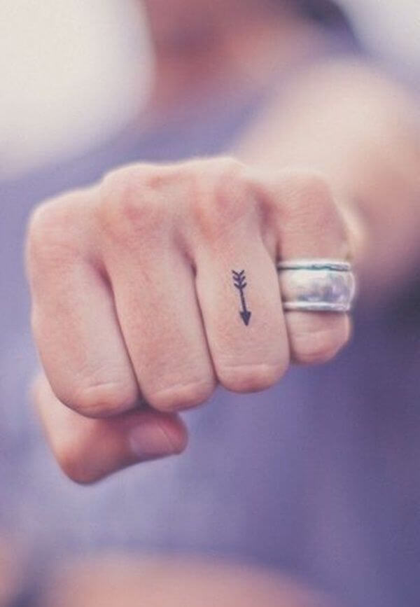 Small Tattoo On Finger