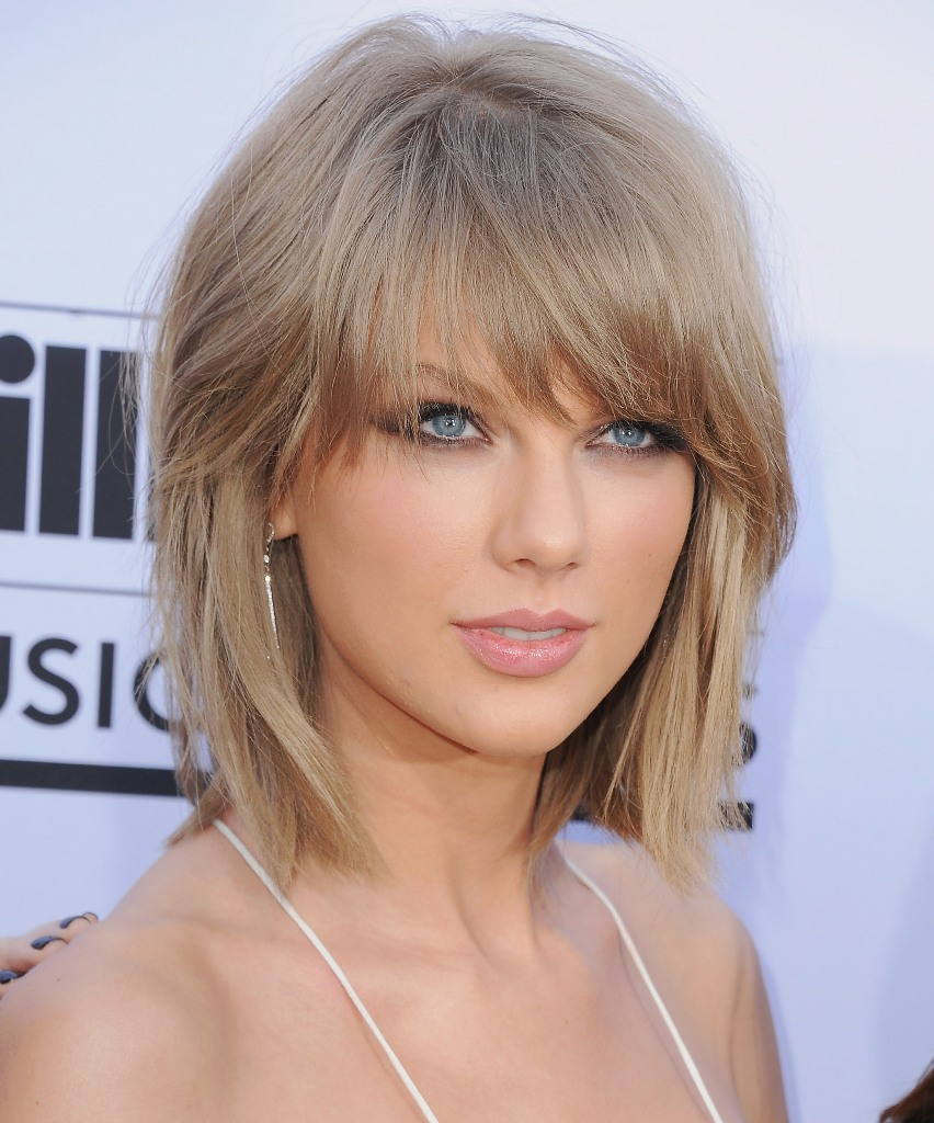 Taylor Swift Choppy Texture and Shaggy Bang