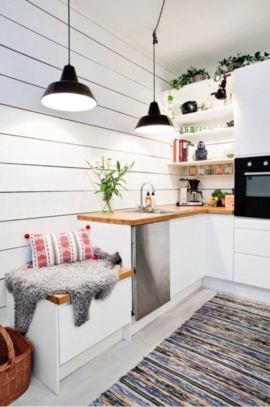 Scandinavian Small Corner Kitchen