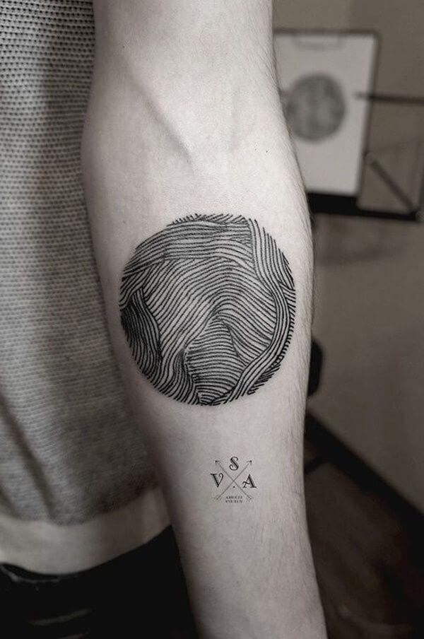 Wavy Lines Forearm Tattoo