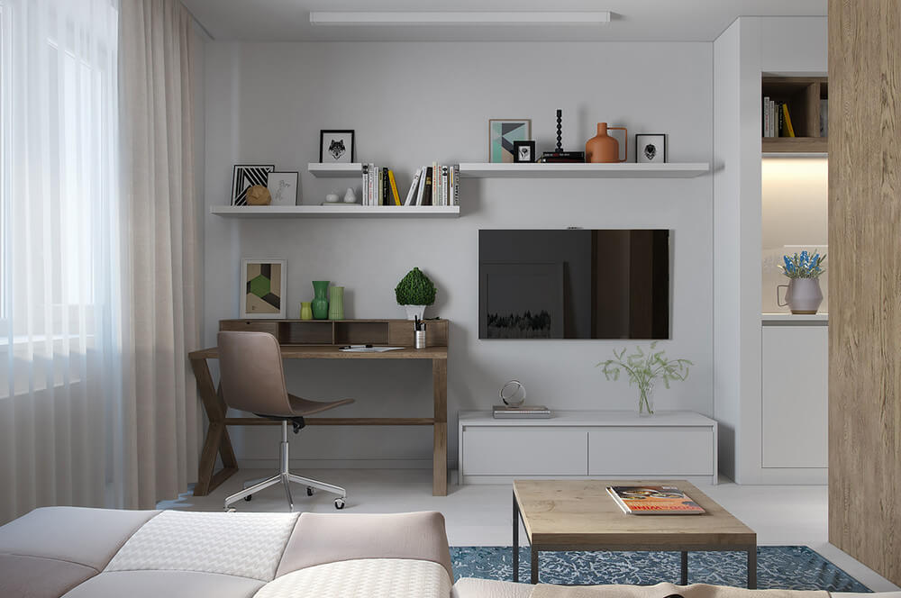cute studio apartment home office