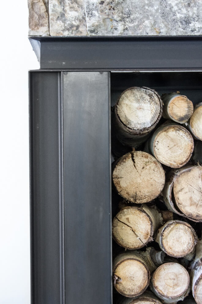 fireplace wood storage
