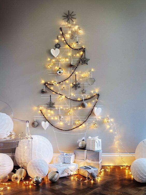 Contemporary Alternative Christmas Tree Decor