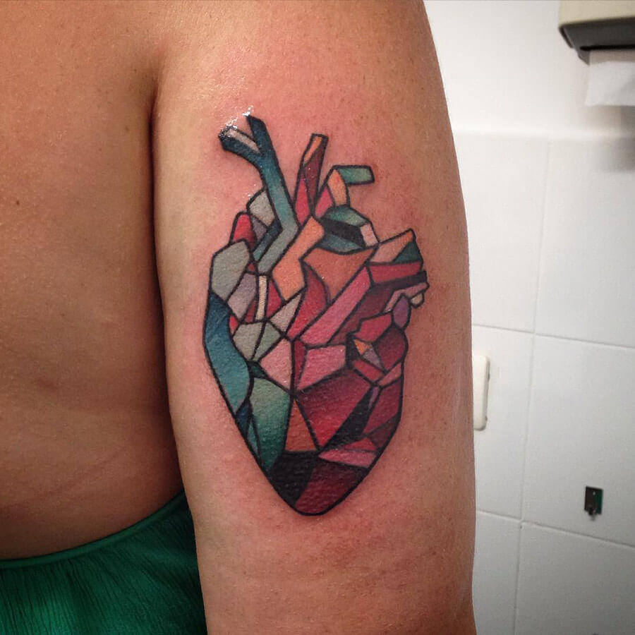 Cubist Heart Tattoo