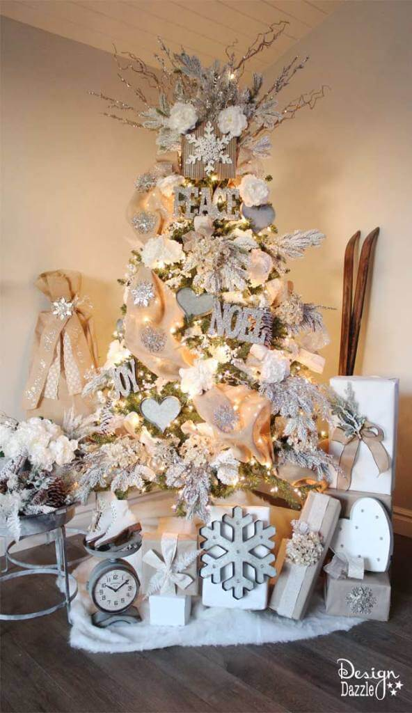 White Winter Wonderland Christmas Tree