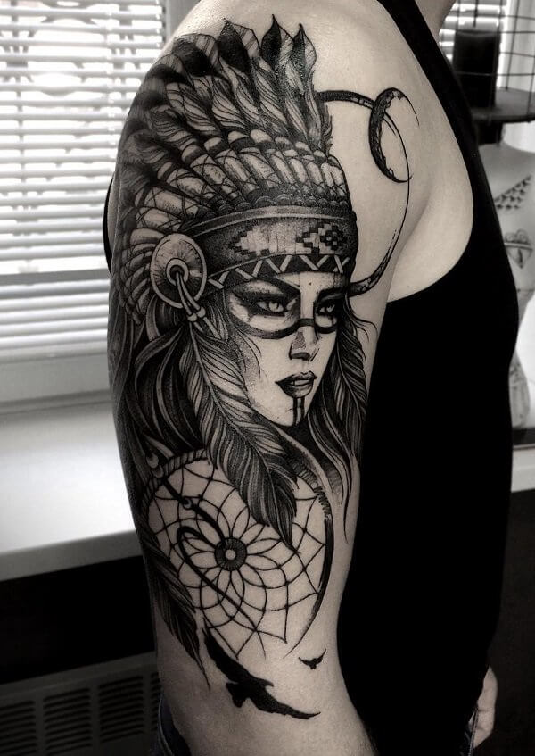 Native American Tribal Tattoo