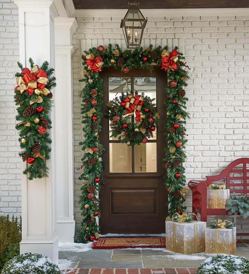 Front Door Garland Christmas Decor