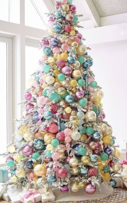 Pastel Colors Christmas Balls Decor