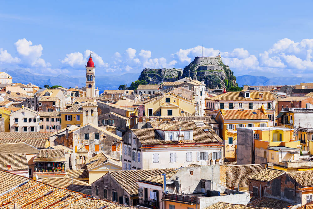 View Of Corfu Town Greece