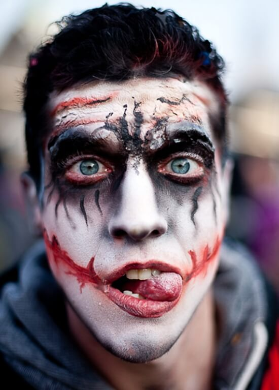 Zombie Halloween Makeup DIY Ideas for Men