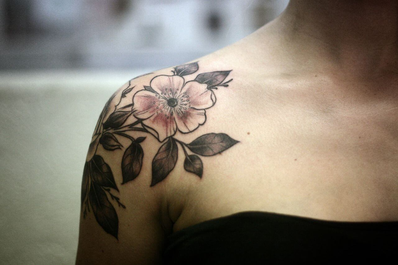 24 Wild Rose Tattoo