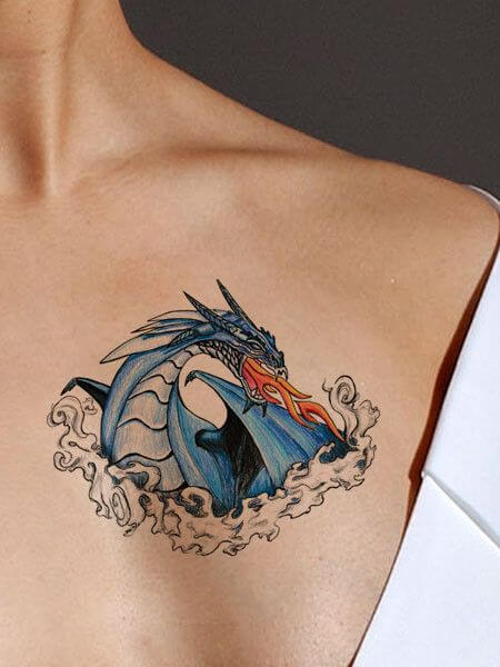 Feminine Dragon Tattoo