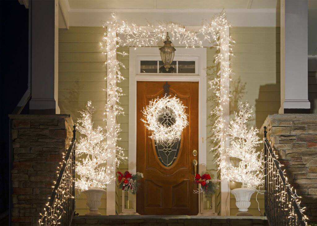 Christmas Lights Front Door Decor